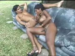 Hot brazillian shemale & friend
