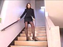 asian, stockings