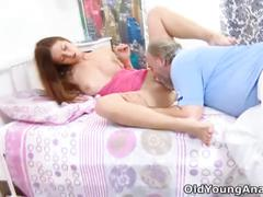 Alyona lays in a sexy pink outfit ready to fuck
