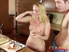 Cum kitchen: blonde big booty aj applegate hard fucked in the kitchen