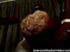 Monster black cocks fuck blonde bottom