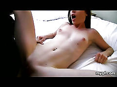 Perky boob amateur fucked by her friend!
