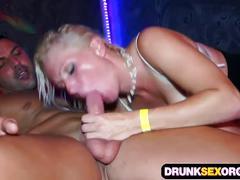 European disco party turns into a crazy group sex