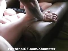 Experienced couple showing us their ass fucking skills