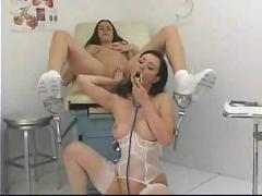 Nurse pull her white panties aside 24 xlx