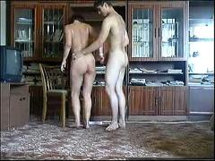 Mom undresses in front of son