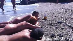 amateur, public, teen, beach, nudist