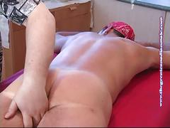 Owen's fat cock gets big sucking surprise.