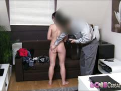 Love creampie sexy student in casting freaks out when i cum
