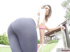 All internal fresh amateur gets anal creampie after ass fuck