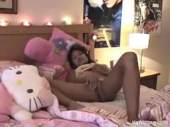 Kat masturbating on her bed ( teen sexy young )
