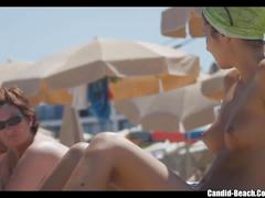 Nude topless beach sexy babes voyeur video hd