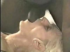 Hubby encourages ugly real blonde wife to enjoy double black cum! read rate comment please :-)