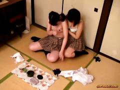 School girl babe gets her pussy fondled