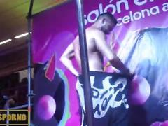 blonde, nude, erotic, stripper, pole, dancer