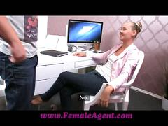 Femaleagent keen stud pesters agent into casting