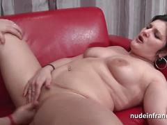 Amateur french couple ass fucking and fisting for a casting