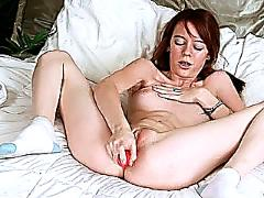 Emilie first time toy masturbation