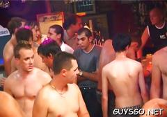Hard body men partying mad