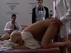 Three studs banging a girl in the clinic...f70