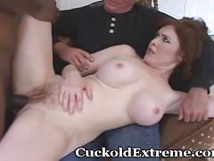 Intense wife and her cuckold hubby