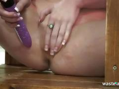Lesbian dominatrix flogs and spanks her sex slave