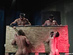 domination, blowjob, muscular, gloryhole, foursome, tattooed, bearded gay, raging stallion, tex davidson, michael roman, hoytt walker, ryan finch