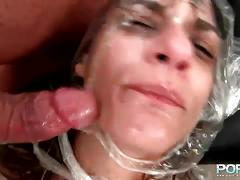 Busty milf sucks fucks and gets her pussy fisted.