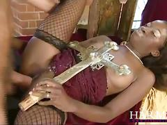 Slam it in tight - dirty interracial gangbang