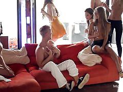 blonde, party, orgy, babes, brunette, teasing, wow girls, nancey, anjelica, sasha, rossy bush, maria pie