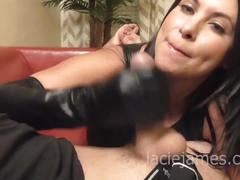 Lacie james glove fetish hand job