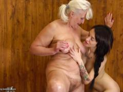 Old lesbians fuck sweet young lesbians