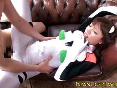 Japanese cosplay babe mao hamasaki cockriding