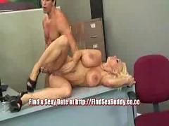 Busty milf holly - office sex