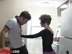 Kitchen handjob preview