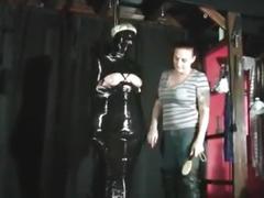 bondage, lesbian, bdsm, mummification, breast torture, mummy, blindfold, extreme, blonde, femdom, girl on girl, dominatrix