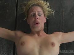 bdsm, blonde, stockings, toys, bondage, dungeon, exploited, extreme, painful, sadistic, torture, vibrator