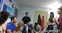 Ultrahot college girls banged at a party