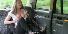 Hot scarlet rides a cab and gets pounded