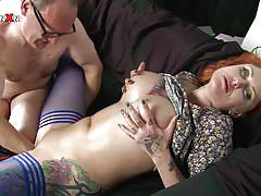 Filthy redhead fisted hard