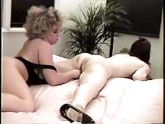 Beautiful young blonde lesbians love eating pussy and scissoring