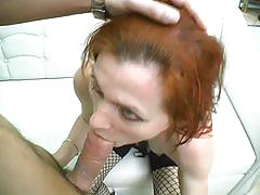 mature, tube8.com, red head, lingerie, fishnet, nipple sucking, natural tits, orgasm, fingering, oral sex, cock riding, ball licking, face fuck, hairy cunt