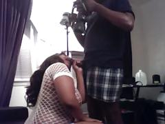Bbw ebony teen sucks a huge 10 inch dick for fun