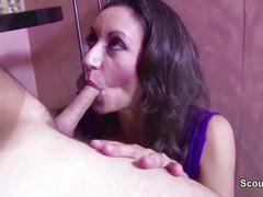 Big natural tit milf with hairy pussy seduce to fuck