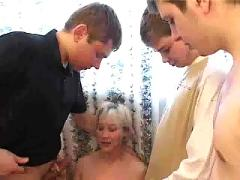 Lucia fucks a lot (4  guys 1 girl)