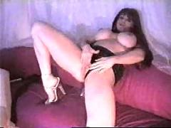 In shape female plays with herself.