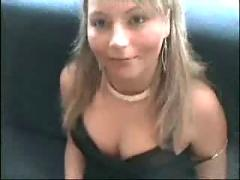 German girl gives a blowjob