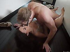 Trinity st. clair gets fucked and creampied on the floor