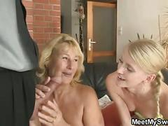 She toying his mom's pussy and sucking dad's cock