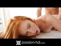 Petite redhead alex tanner got her pink drilled
